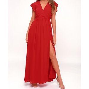 Lulu's red maxi dress